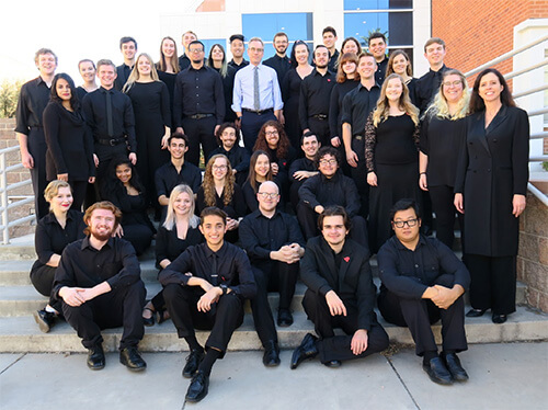 Dean Andy Schulz with UA Symphonic Choir
