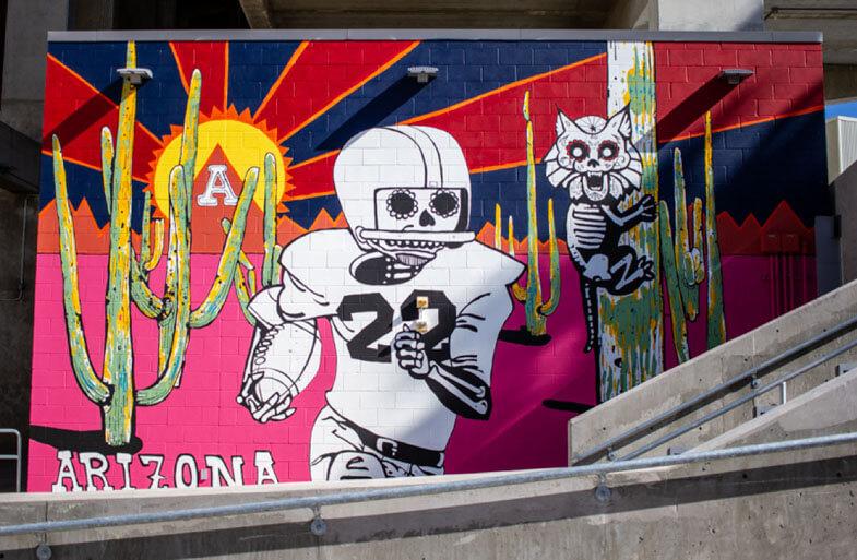 Photo of The Cactus Comet Rides Again mural