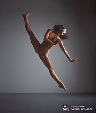 Photo of Delphine Chang dancing