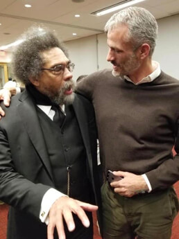 Photo of John Milbauer and Cornel West