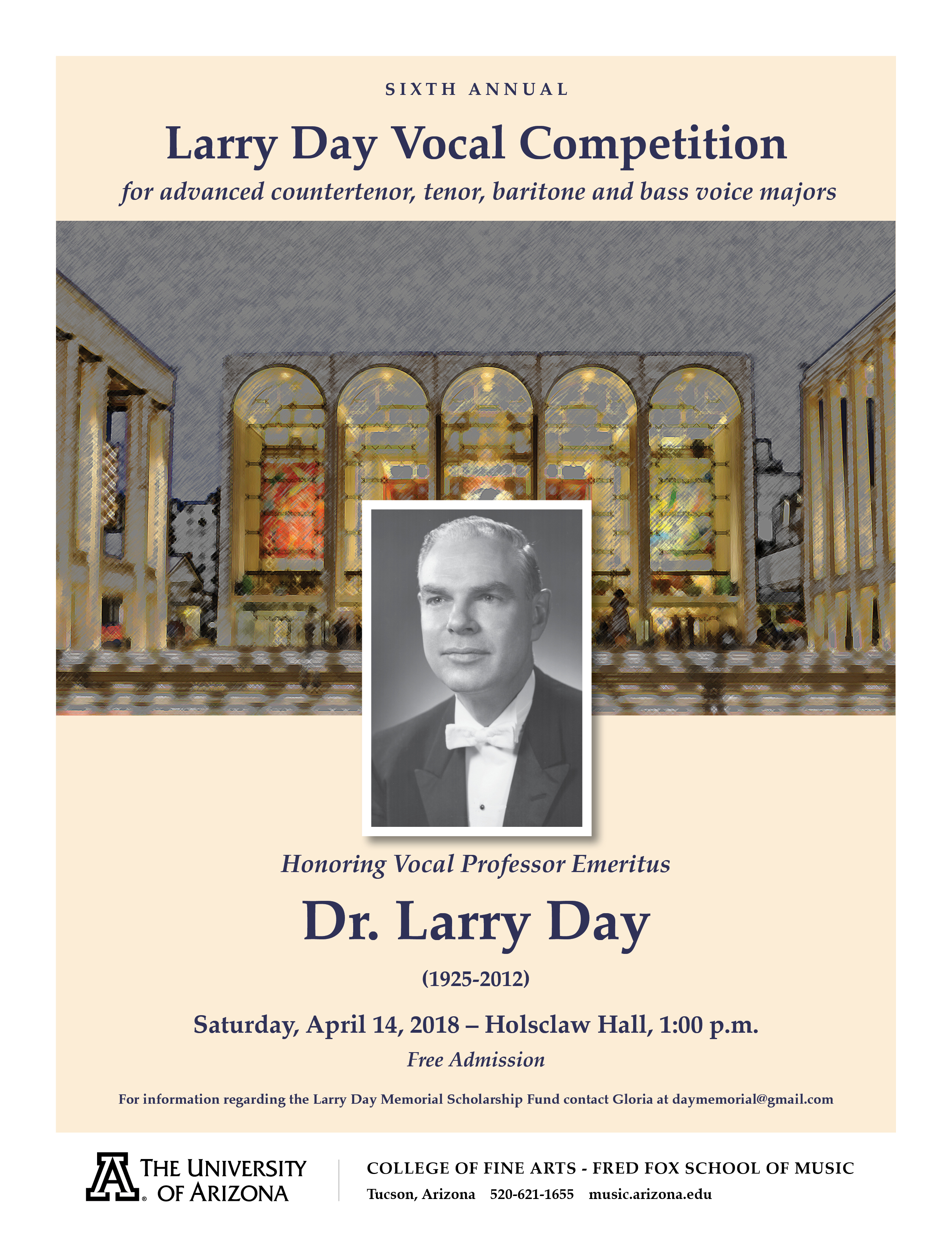 SIXTH ANNUAL LARRY DAY VOCAL COMPETITION – Fred Fox School