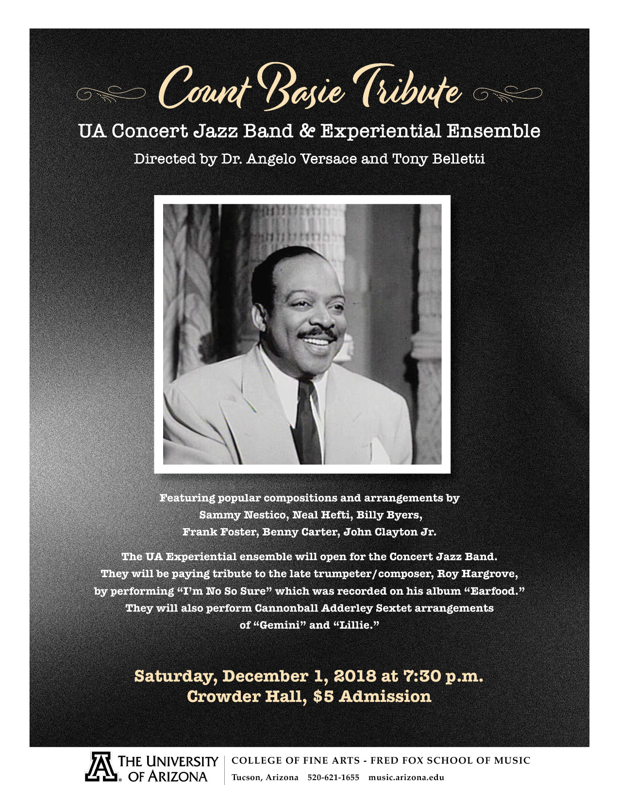 "Count Basie Tribute"" UA Concert Jazz Band & Experiential"