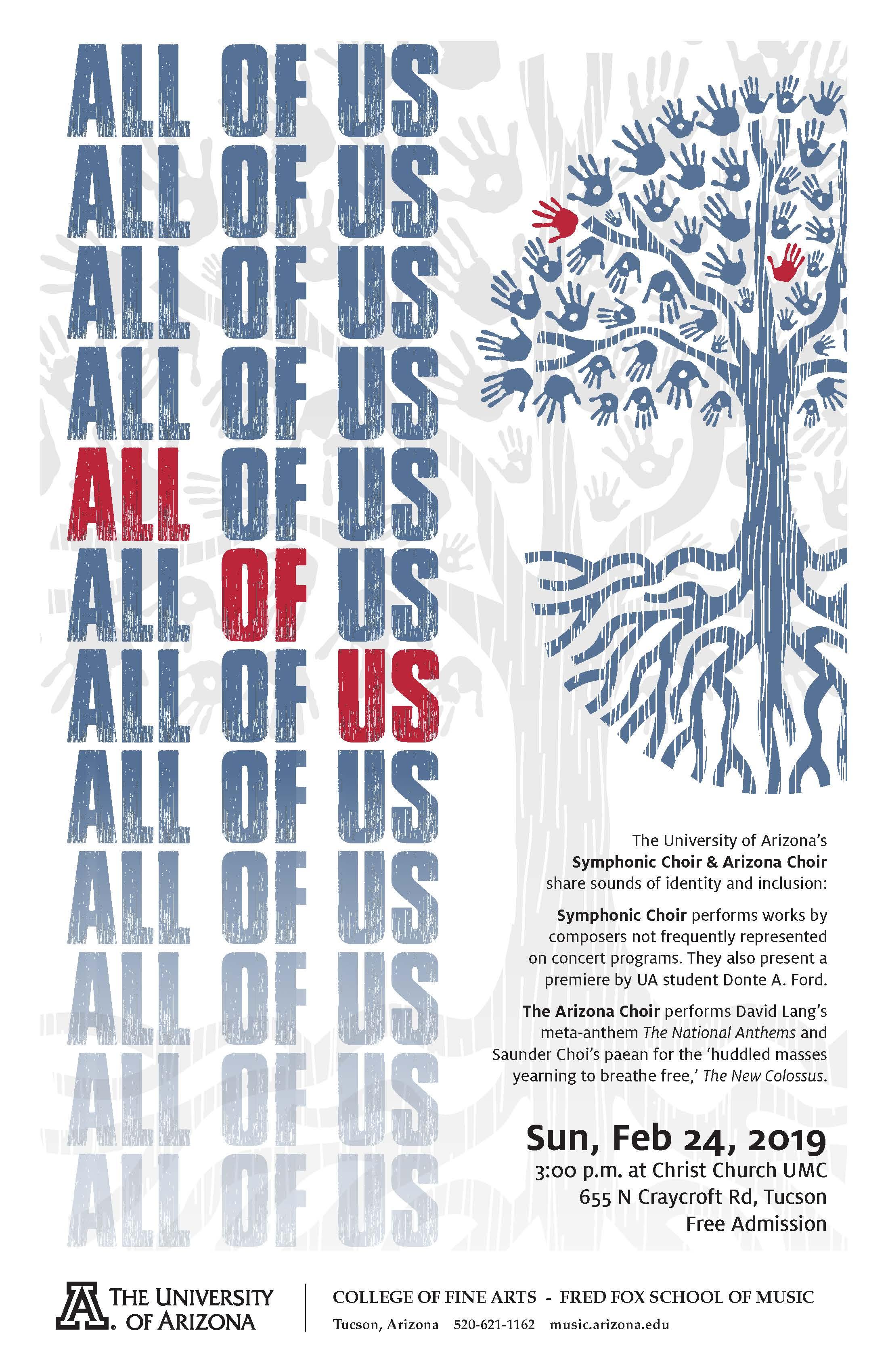 "All of Us"" – Arizona Choir & UA Symphonic Choir – Fred Fox"