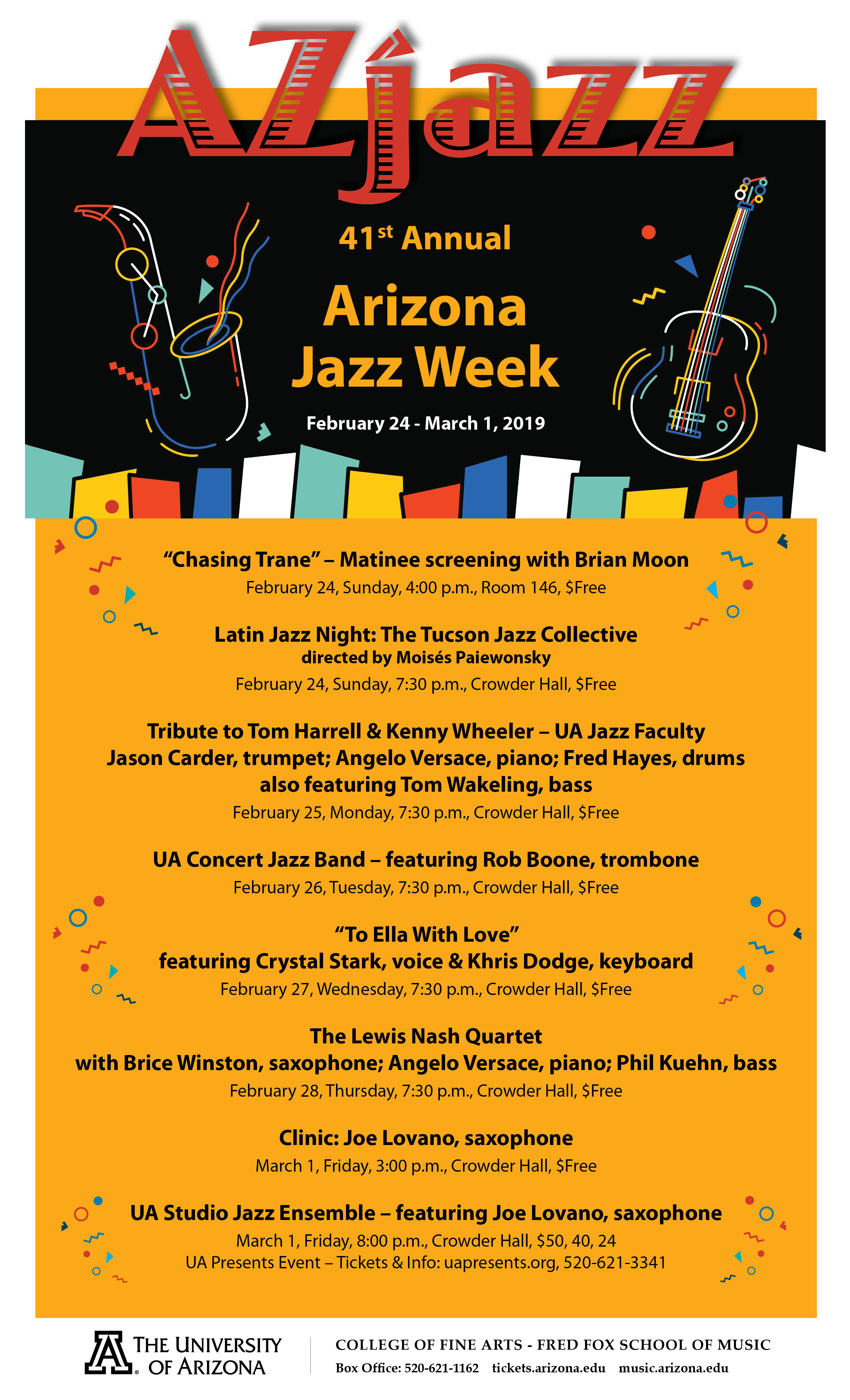 "41st Annual AzJazz Week: ""To Ella With Love"" – featuring"
