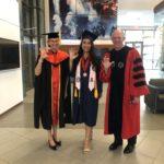 President Robbins, Provost Folks, and Kaissy Yau