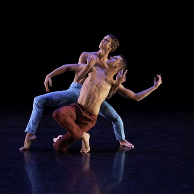 UA Dance Ensemble members Brandt Czerniski, and Kyle Halfor, photo by Ed Flores