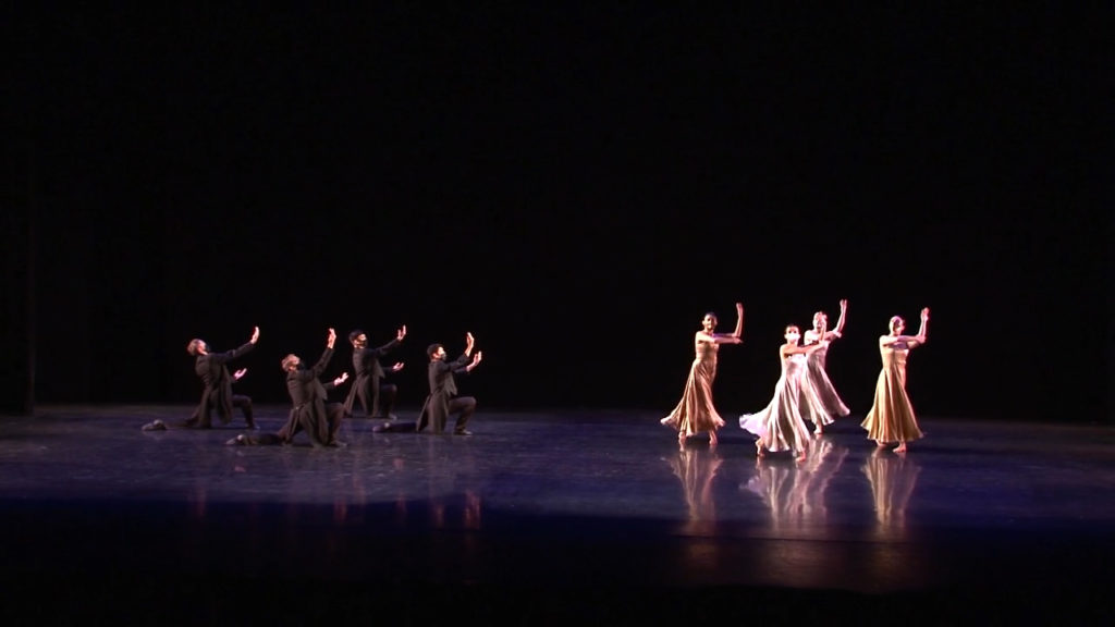 "UA Dance Ensemble members in Paul Taylor's ""Cloven Kingdom"""